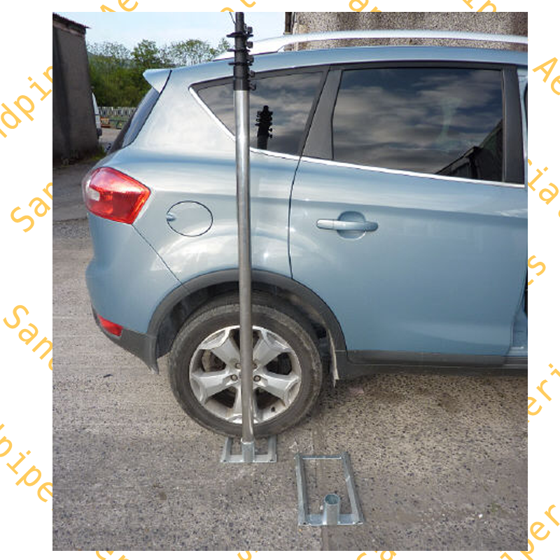 Drive-on mast support  galvanised