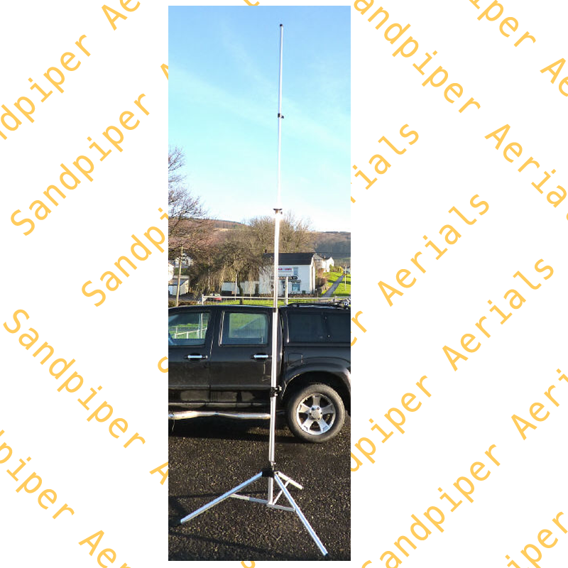 Lightweight mast with built in tripod 4 5 mtrs high(TRIPOD COLOUR MAY VARY)
